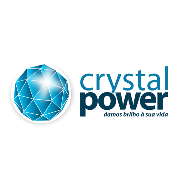 Design de logotipo para a marca Crystal Power